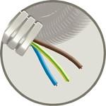 Kunststof installatiebuis, voorbedraad SNELFLEX 3G2,5 mm²