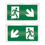 Pictogram noodverlichting Esylux SLD SYMBOL 2-SIDE DOWN RIGHT LEFT