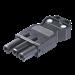 Elektrische toebehoren voor verlichtingsarmaturen Accessoires Illuxtron GST18 Female socket 3-P black 009805BL0000