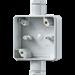 Opbouwbak inbouwschakelmateriaal WG800 / WG800 JUNG Onderkast WG800 enkelvoudig met 2x pg-16 wartel 852